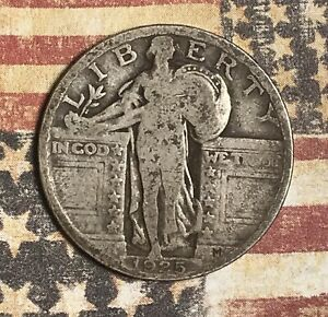 1925-STANDING-LIBERTY-SILVER-QUARTER-COLLECTOR-COIN-FREE-SHIPPING