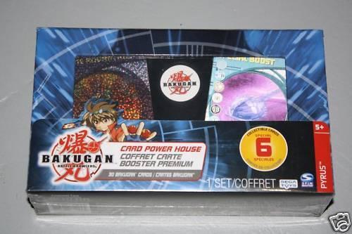 NEW - SEALED BAKUGAN 30 CARD POWER HOUSE SET w//CASE