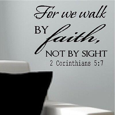 WE WALK BY FAITH corinthians BIBLEVERSE wall decal removable sticker DIYwallart