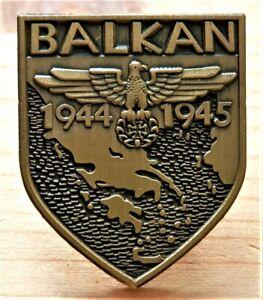BIKERS ROCKERS SHIELD BADGE EAGLE AND MALTESE CROSS BALKAN '44-'45 REPRO NICE