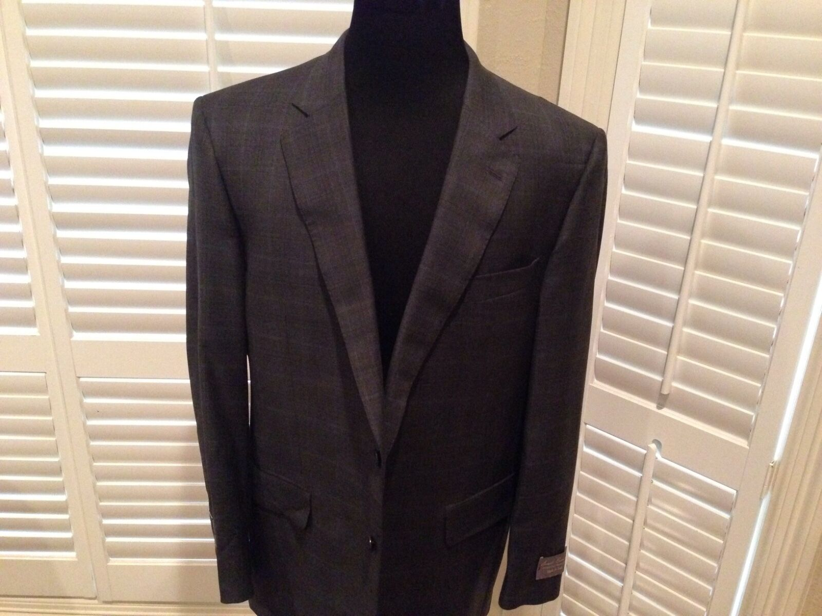LGold Piana Wool Suit  Daniel cremieux Größe 46 R hand  Made in