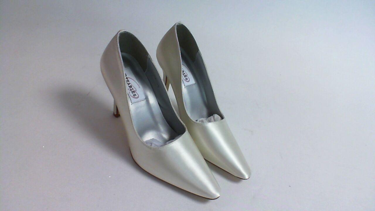 New Dyeables Wedding Shoe - Ivory Satin - Debutante - US 5.5 B UK 3.5 #13R486