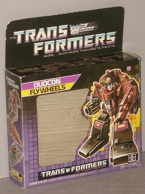 G1 TRANSFORMER DECEPTICON DUOCON FLYWHEELS EMPTY BOX LOT   1