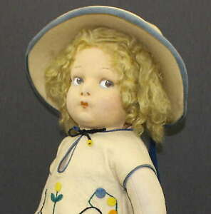 EARLY-LENCI-DOLL-With-SILVER-BUTTON-ON-HER-UNDERWEAR