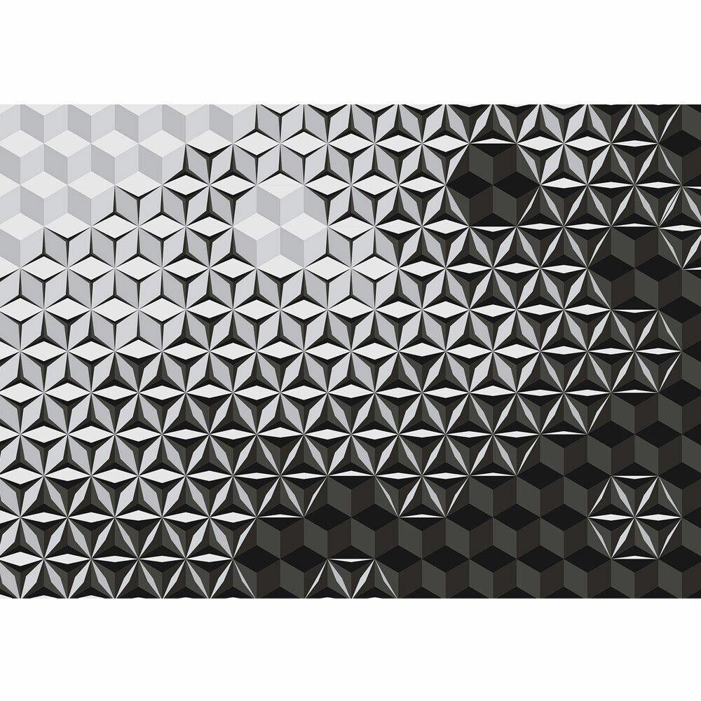 Fototapete Abstraktion Mosaik grey Kaleidoskop Stern liwwing no. 4309