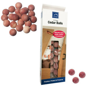 12-Cedar-Moth-Palla-legno-fresco-Naturale-Repellente-per-i-vestiti-di-muffa-Guardaroba-Cassetto