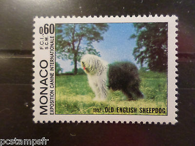 Monaco 1982 Dog Hundes Bobtail Vf Mnh Briefmarke Neu Briefmarke 1329