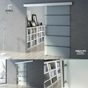 Modern-Sliding-Door-Glass-Tempered-Frosted-Sections-With-Bar-Handle-Soft-Close
