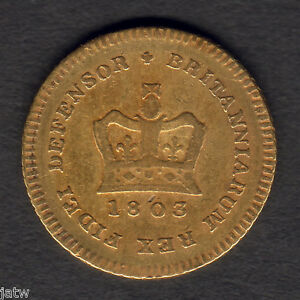 Great-Britain-1803-George-111-Third-Guinea-gF-F-Lustre-traces