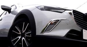 ABS-Cromo-Delantero-Antiniebla-Faro-Tira-Tapa-Embellecedora-4pcs-para-Mazda-CX-3