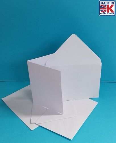 50 x A6 100/%  RECYCLED  WHITE BLANK GREETINGS CARDS WITH 100/% RECYCLED ENVELOPES