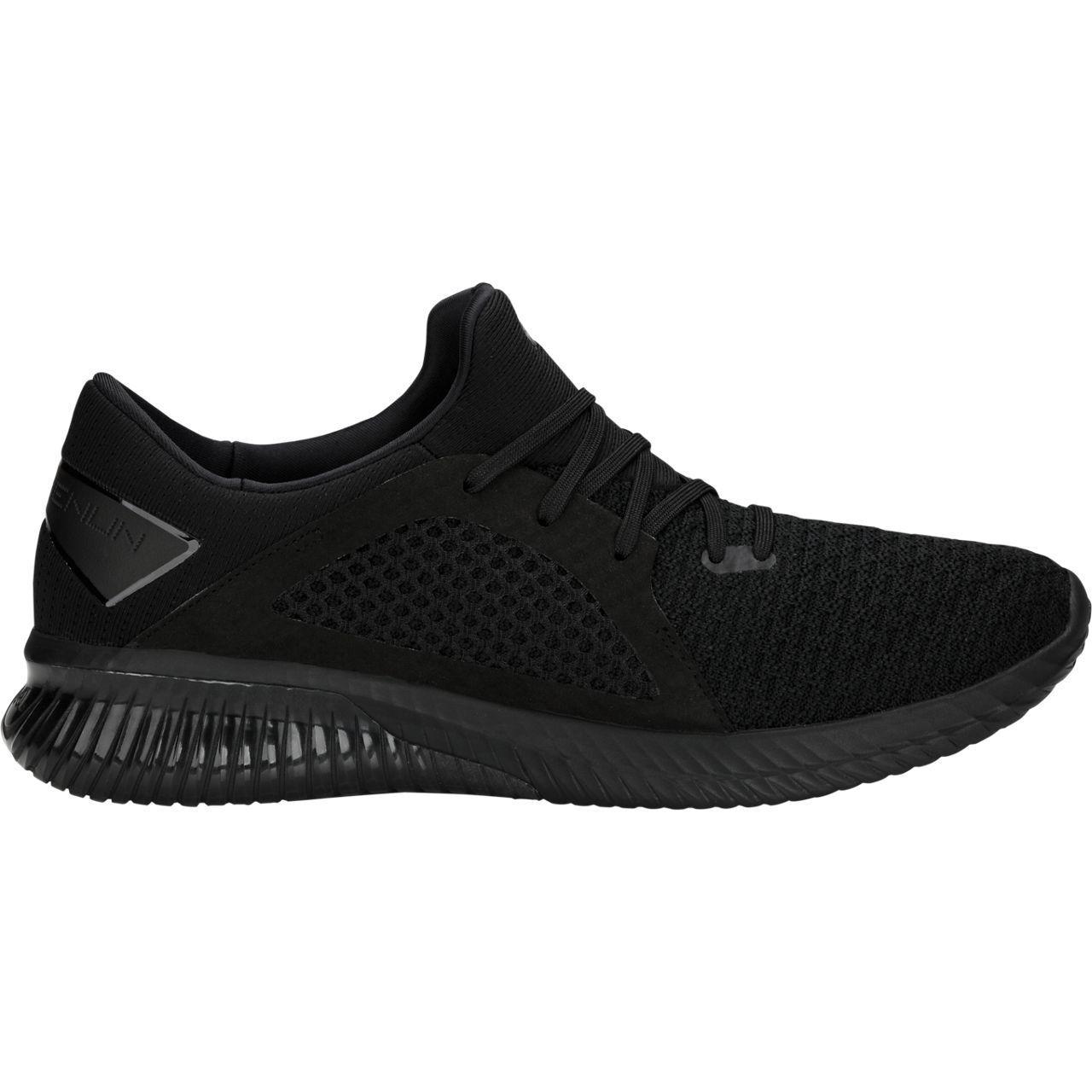 Asics 1021A025-001 Gel kenun Knit MX Negro Negro Para hombres Zapatos para correr
