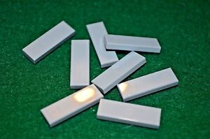 LIGHT GRAY 1x3 Smooth Finishing Tile Brick Bricks  ~ Lego  ~ NEW 8