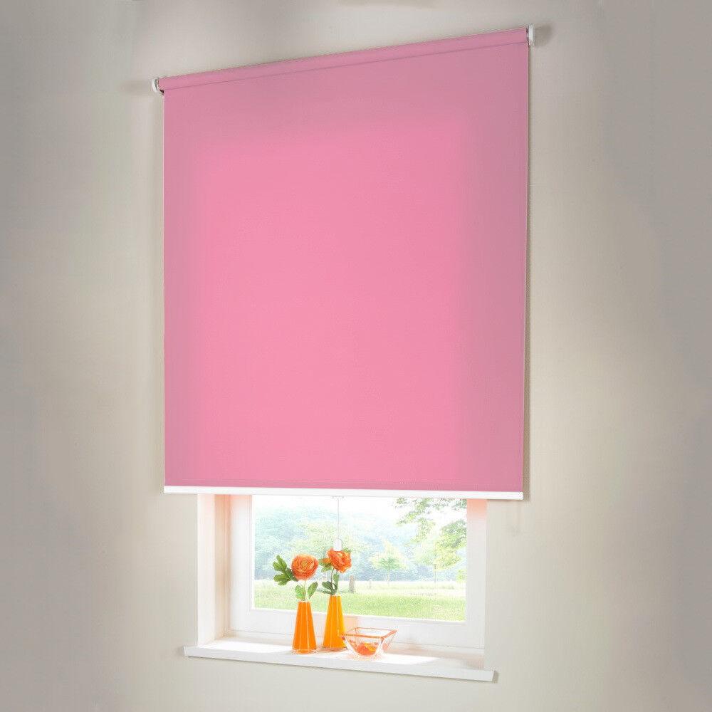 Sichtschutzrollo Mittelzugrollo Springrollo Springrollo Springrollo Rollo - Höhe 110 cm Rosa | Räumungsverkauf  078ddc