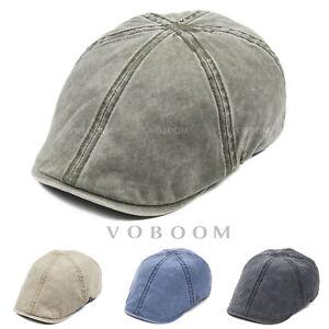 VOBOOM 100% COTTON VINTAGE IVY CAP MENS RETRO GASTBY NEWSBOY CAP ... 595d8a48896