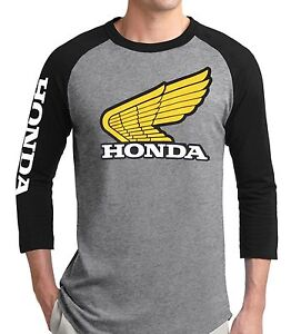 Classic Honda Baseball Tee T Shirt Jersey Xr75 Vintage Retro