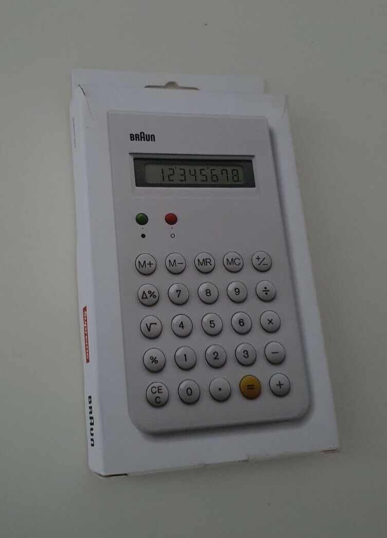 Rare FW15 Supreme x Braun Et66 white calculator with protective slide cover