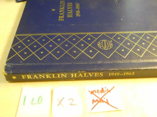 Premium Hardback Slider Folder Used Franklin Halves 1948-1963 Whitman