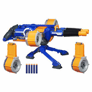 'NERF N-Strike Elite Rhino-Fire Motorized Double-Barrel Blaster' from the web at 'https://i.ebayimg.com/images/g/tT4AAOSwiHpaBGzE/s-l300.jpg'