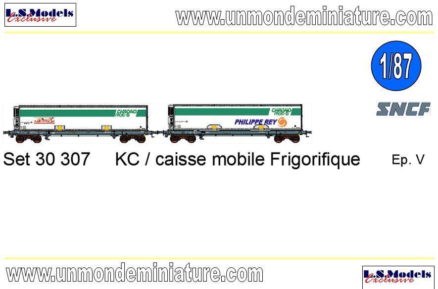 Set de 2 Wagons KC Frigo Chrono Froid La Fleche & Rey LS MODELS - LSM 30307 1 87