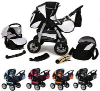 Baby Pram Buggy Pushchair Stroller Apollo 3in1 Free Uk Delivery