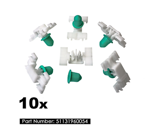 10x Door Side Fender Body Fastener Moulding Trim Clips Accessory For BMW E46 E36
