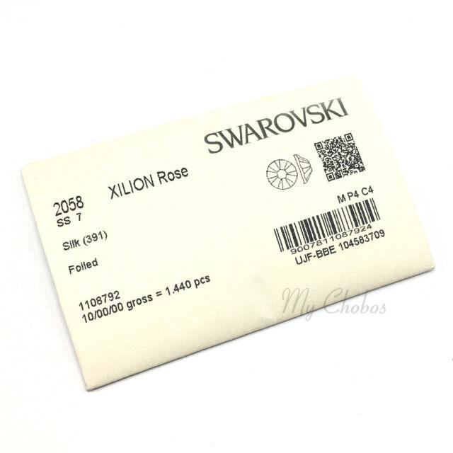 c09e4ddec 1440 Swarovski 2058 7ss crystal wholesale flatback nail art ss7 SILK (391)