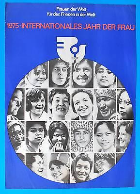 Ddr Plakat Poster 1266 | Internationales Jahr D. Frau 1975 | 81 X 57 Cm Original Mild And Mellow