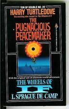 PUGNACIOUS PEACEMAKER & WHEELS OF IF, rare US Tor Double sci-fi pulp vintage pb