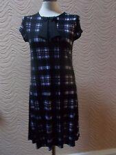 RIVER ISLAND CHELSEA GIRL PURPLE & BLACK CHECKED DRESS - UK SIZE 6