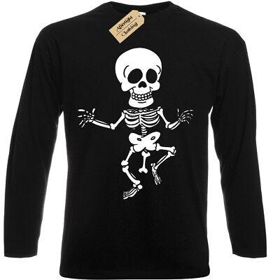 Rude Skeleton T-Shirt Funny mens bones joke tee top