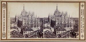Milan Italia Foto Sommer Behles Stereo Vintage Albumina Ca 1870