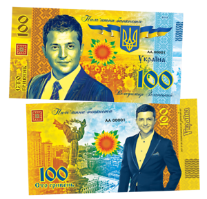 Ukraine-UAH-100-hryvnia-Volodymyr-Zelensky-6th-President-of-Ukraine