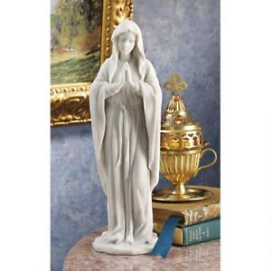 Blessed-Virgin-Mary-With-Folded-Hands-Design-Toscano-11-034-Bonded-Marble-Statue
