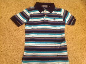 NEW CHILDREN/'S PLACE BOYS BLUE /& RED STRIPED SHORT SLEEVE POLO SHIRT 4T 5T