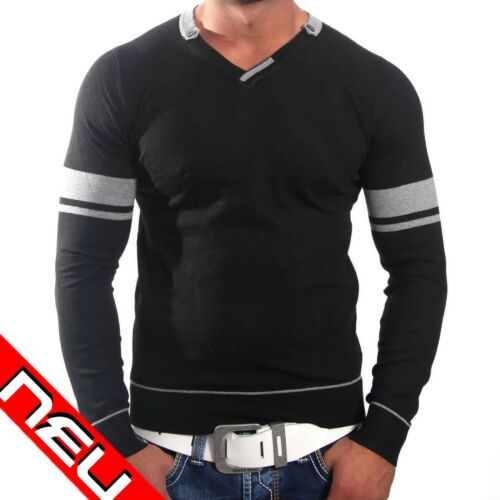 Terance Kole Manica Lunga V-NECK PULLOVER Sweatjacke Uomo Maglione JP TK 838 hoodie