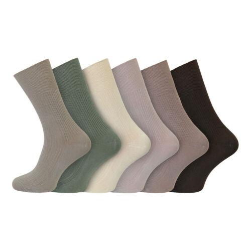 Men/'s Super Soft BAMBOO Lights No Elastic Loose Top Anti Sweat Socks 6-11 Uk