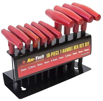 10 PIECE T-HANDLE METRIC HEXAGON KEY SET ALLEN WRENCH HEX TOOL I9070
