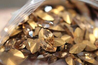 #1507      8X4MM GLASS MARQUIS TOPAZ FACETED RHINESTONES 36PC