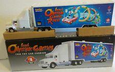 TEXACO 1996 CAR CARRIER #4 SERIES – IZZY's OLYMPIC GAMES w/ IZZY TOY CAR
