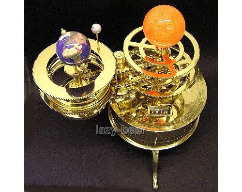 Antique-Style-Tellurium-Orrery-Sun-Earth-Moon-System-Model-Planetarium