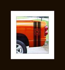 5.7L V8 Iron cross Truck Rear Bed Stripes Stripe Ram 1500 2500 3500 ALL YR Chevy