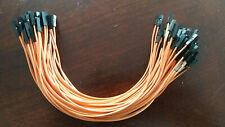 100pcs Orange 20cm 254mm Female Wire Jumper Cable 1p Pin Dupont Arduino New
