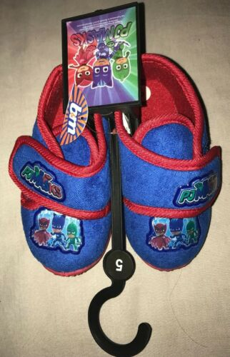BNWT BABY BOYS BLU PJ maschere Pantofole Taglia 5 neonato EUR 22