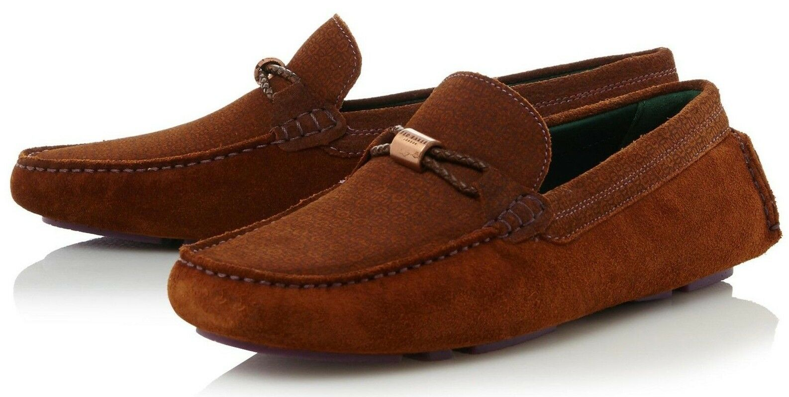 NIB Ted Baker London Carlsun 2 Suede Driving Moccasins Loafer EUR 41 US 8