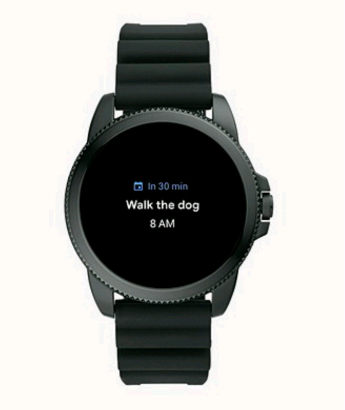 Fossil Gen 5E Smartwatch Black Silicone (Compatible with iPhone & And)