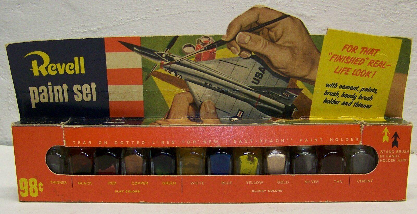 Rare Revell 1956 paint set for model kits
