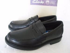 Scolaires Cuir en Noir Bootleg Diverses âgés Nouveau Plus Tailles Chaussures Clarks Garçons Zayne qIzxwUSB