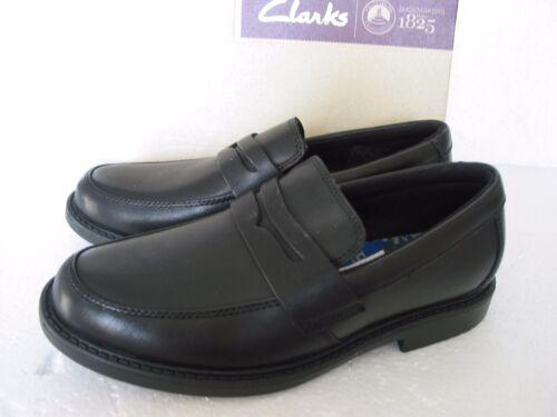 Garçons Noir Zayne Tailles Bootleg en Clarks Plus Nouveau Chaussures Scolaires Diverses Cuir âgés qS4CxX