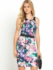 Definitions Size 16 Simply Fab Slit Front Scuba BodyCon DRESS Party Cruise £49